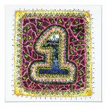 El número uno, primer cumpleaños invita invitación 13,3 cm x 13,3cm