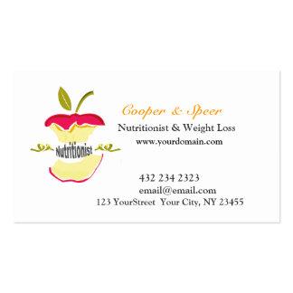 El nutricionista Apple el dietético diseña negocio Plantilla De Tarjeta De Negocio