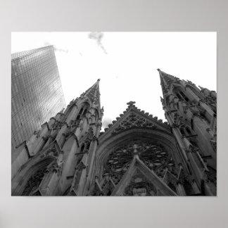 El NYC de St Patrick Póster