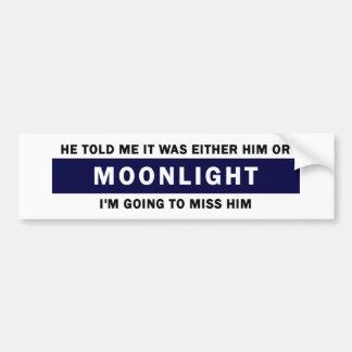 Él o claro de luna pegatina para auto