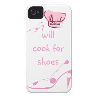 El O.N.U-Cocinero cocinará para los zapatos rosa y iPhone 4 Case-Mate Coberturas