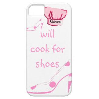 El O.N.U-Cocinero cocinará para los zapatos rosa y Funda Para iPhone 5 Barely There