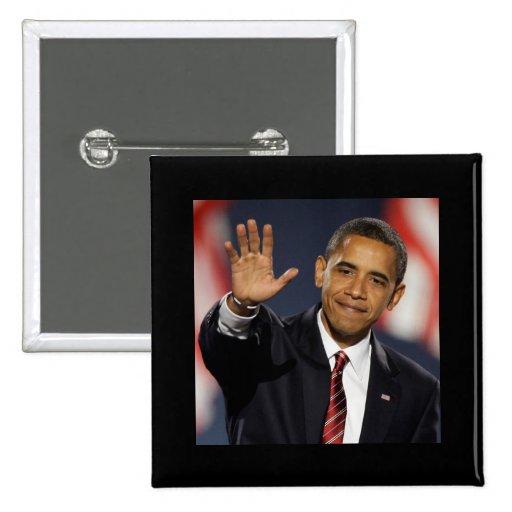 El Obama-Agitar Pin Cuadrada 5 Cm