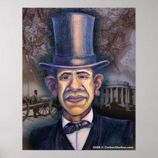 El Obama - el paralelo de Lincoln Posters