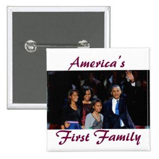 El Obamas 1r botón de la familia de América Pins