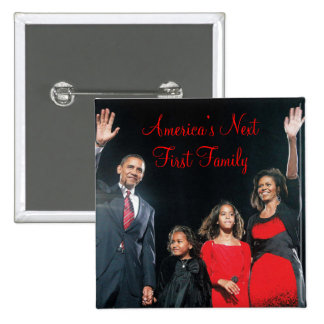 El Obamas Botón siguiente de la familia de Améric Pins