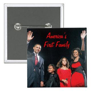 El Obamas: La 1ra familia de América Pin Cuadrada 5 Cm