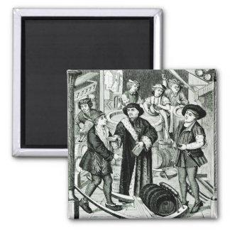 El obispo de Tournai que recibe el diezmo de la ce Imán Cuadrado