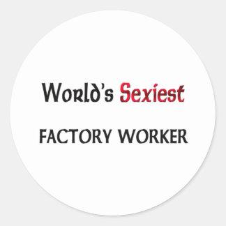 El obrero más atractivo del mundo etiqueta redonda