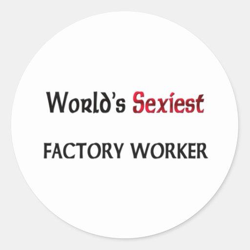 El obrero más atractivo del mundo pegatina redonda