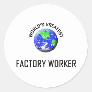 El obrero más grande del mundo pegatinas redondas
