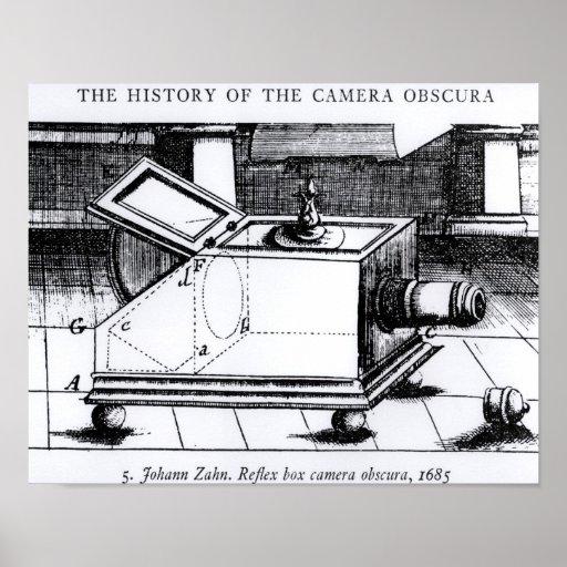 El obscura reflejo de la cámara de caja póster