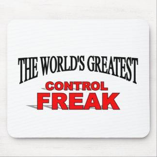 El obseso del control más grande del mundo alfombrilla de ratón