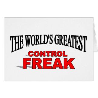 El obseso del control más grande del mundo felicitacion