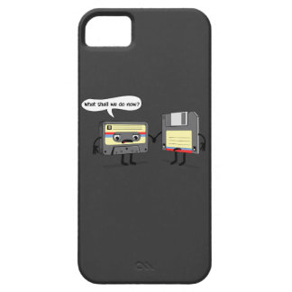 El Obsoletes cinta de casete del disco blando ret iPhone 5 Case-Mate Cobertura