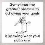 el obstáculo más grande a sus metas posters