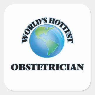 El obstétrico más caliente del mundo calcomanía cuadradase