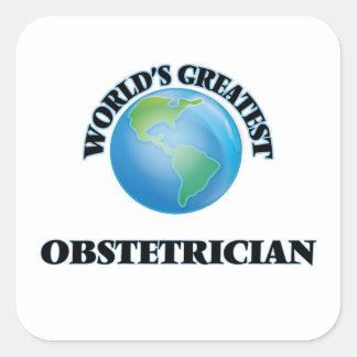 El obstétrico más grande del mundo colcomanias cuadradas