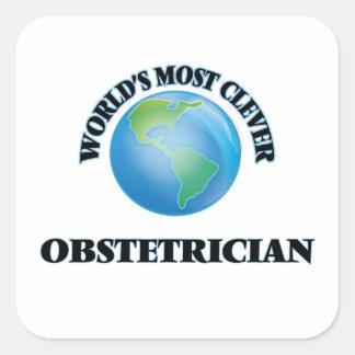 El obstétrico más listo del mundo colcomanias cuadradas personalizadas