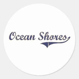 El océano apuntala el diseño clásico de Washington Etiquetas
