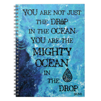 El océano céltico poderoso spiral notebook