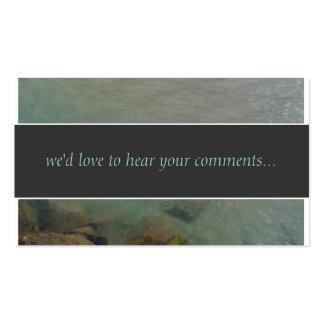 El océano comenta tarjeta plantillas de tarjeta de negocio