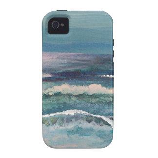 El océano del grillo - paisaje marino de la playa iPhone 4 funda