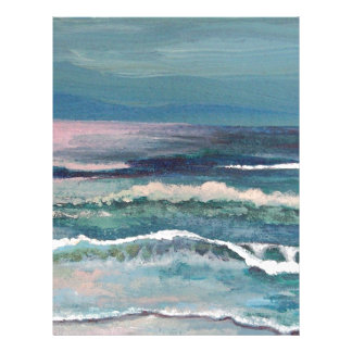 El océano del grillo - paisaje marino de la playa plantilla de membrete