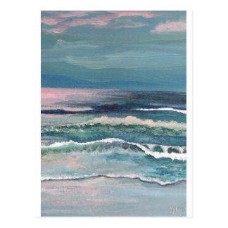 El océano del grillo - paisaje marino de la playa tarjetas postales