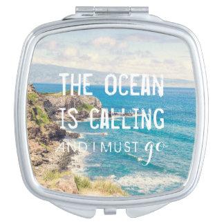 El océano está llamando - la costa el | de Maui Espejo Maquillaje