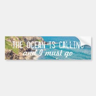 El océano está llamando - pegatina para el pegatina para auto