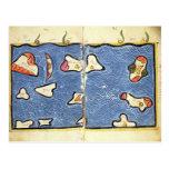 El Océano Índico, de un atlas Tarjetas Postales