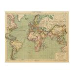 El Océano Índico, Océano Atlántico Impresión En Madera