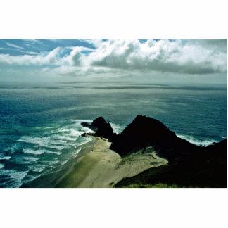 El Océano Pacífico resuelve el mar de Tasman Fotoescultura Vertical
