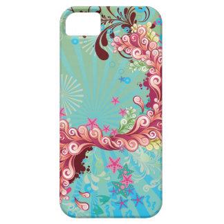 El océano rosado de la aguamarina de moda remolina iPhone 5 cárcasa