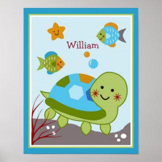 El océano soña/Sealife/poster personalizado los pe Póster