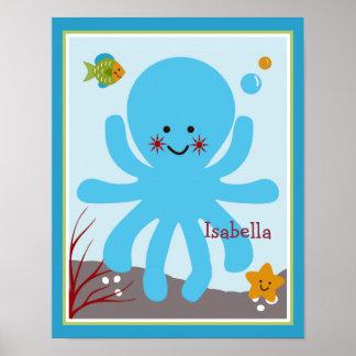 El océano soña/Sealife/poster personalizado pulpo