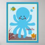 El océano soña/Sealife/poster personalizado pulpo Póster