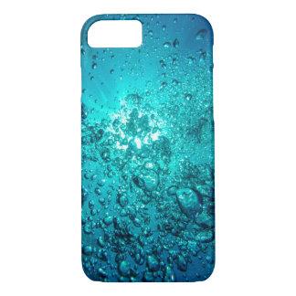 El océano subacuático azul bonito burbujea caja funda iPhone 7