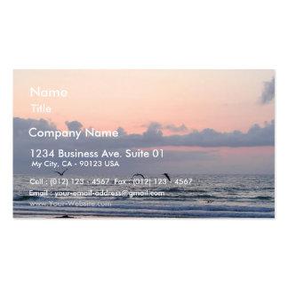 El océano vara las palmeras de las nubes de la pue plantillas de tarjeta de negocio