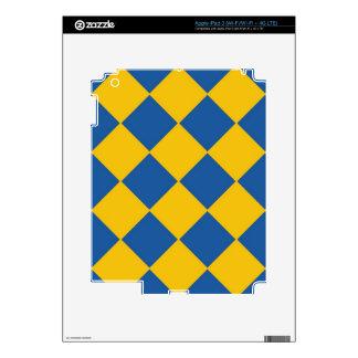 El océano y el oro azules enarenan la piel del iPa Pegatinas Skins Para iPad 3