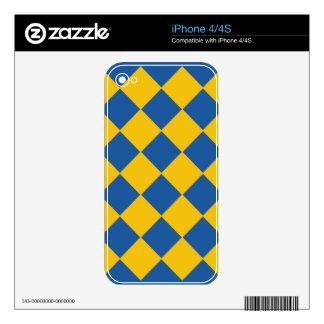 El océano y el oro azules enarenan la piel del iPh Skins Para iPhone 4S