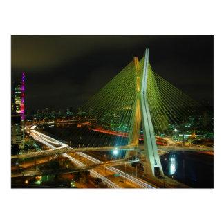 El Octavio Frias de Oliveira Bridge Sao Paulo Postales