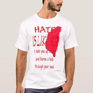 El odio es como camiseta ácida (de la sangre)