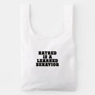 El odio es un comportamiento docto bolsa reutilizable