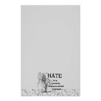 El odio es un STD Papelería De Diseño