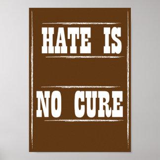 El odio no es ningún poster de la curación