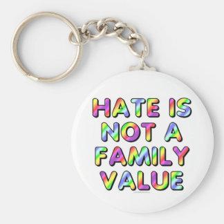 El odio no es un valor familiar llavero redondo tipo pin