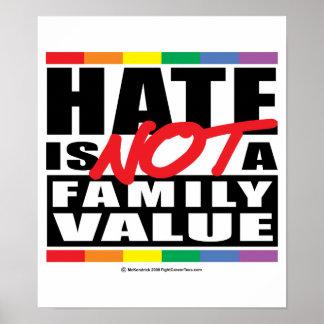 El odio no es un valor familiar posters