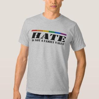 El odio no es un valor familiar playeras